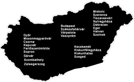 MAGYARORSZÁGI SZERVIZEINK, LERAKATAINK